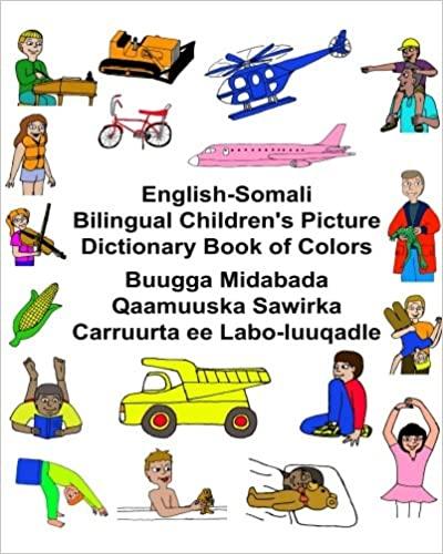 Buugga Midabada Qaamuuska Sawirka Carruurta...English-Somali Dictionary of Colors